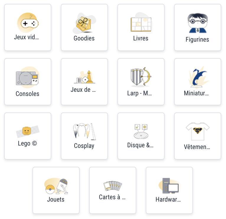 Liste des catégories du site